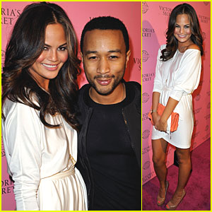 Chrissy Teigen & John Legend: Victoria's Secret Swim Collection!