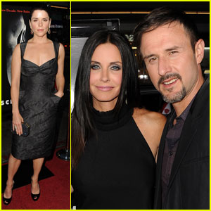 Courteney Cox & David Arquette 'Scream' with Neve Campbell