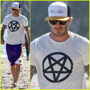 David Beckham: Malibu Beach with Romeo & Cruz!