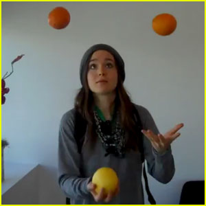 Ellen Page's Secret Talent: Juggling!