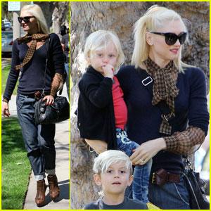 Gwen Stefani, Kingston & Zuma Go to Grandma's