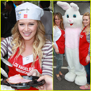 Hilary & Haylie Duff: Easter at the Los Angeles Mission!