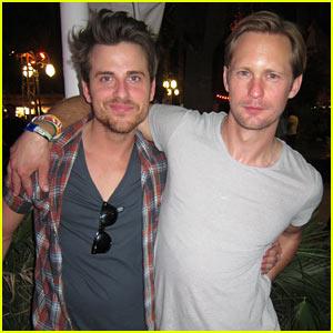 Alexander Skarsgard: Coachella with Jared Followill!
