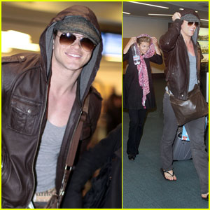 Kellan Lutz: Vancouver Arrival with AnnaLynne McCord