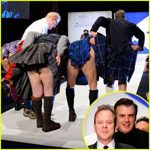 Kiefer Sutherland & Chris Noth: Dressed to Kilt Flashers!