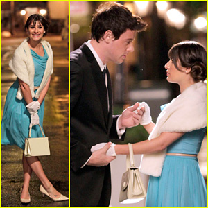 Lea Michele & Cory Monteith: On Set of 'Glee' in West Village!