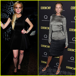 Lindsay Lohan & Uma Thurman: 'Ceremony' Screening