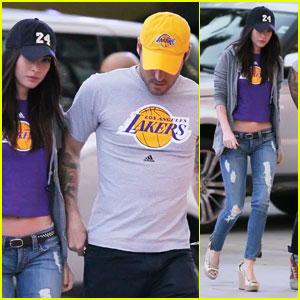 Megan Fox & Brian Austin Green: Let's Go Lakers!