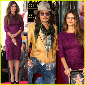 Penelope Cruz: Hollywood Walk of Fame with Johnny Depp!