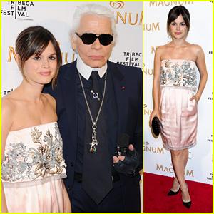 Rachel Bilson: 2011 Tribeca Film Festival with Karl Lagerfeld