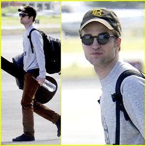 Robert Pattinson Takes Off from St. Thomas