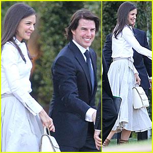 Tom Cruise & Katie Holmes Attend Brad Grey's Wedding