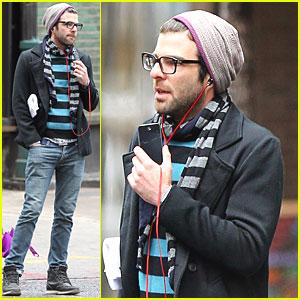 Zachary Quinto Walks & Talks in NYC