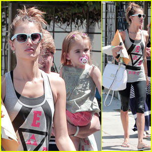 Alessandra Ambrosio: Sunny Stroll with Anja!