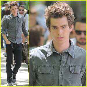 Andrew Garfield: 'Spider-Man' Filming with Rhys Ifans!