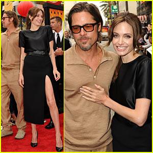 Angelina Jolie: 'Kung Fu Panda 2' Premiere with Brad Pitt!