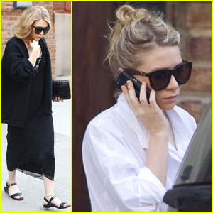 Ashley Olsen Walks & Talks in NYC