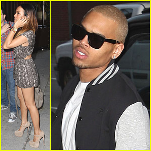 Chris Brown & Karrueche Tran: Dinner Date