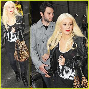 Christina Aguilera & Matthew Rutler See a Show