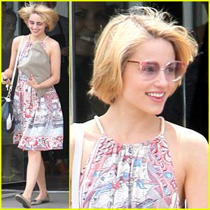 Dianna Agron: Haircut Touchups!