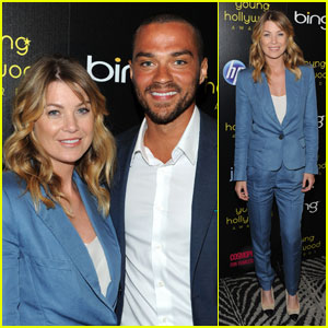 Ellen Pompeo: Young Hollywood Awards with Jesse Williams!