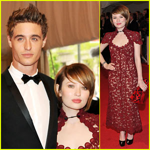 Emily Browning - MET Ball with Max Irons!