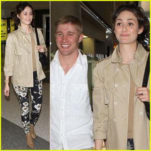 Emmy Rossum Leaves L.A. with Tyler Jacob Moore