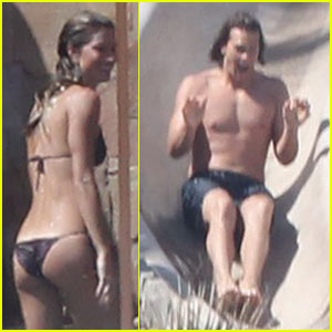 Gisele Bundchen: Bikini Pooltime with Tom Brady!