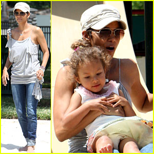 Halle Berry: Down the Slide with Nahla!