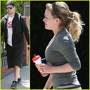 Hilary Duff & Mike Comrie Work Out with Harley Pasternak