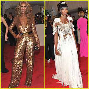 Iman & Naomi Campbell - MET Ball 2011