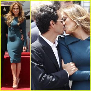 Jennifer Lopez: Simon Fuller Walk of Fame Ceremony!