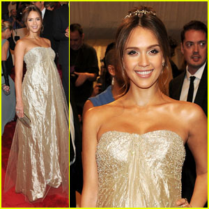 Jessica Alba - MET Ball 2011 with Cash Warren!