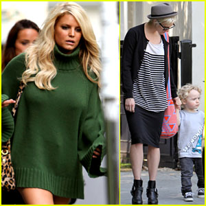 Jessica Simpson: Family Visit at Photo Shoot!