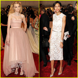 Jessica Stam - MET Ball 2011 with Chanel Iman!