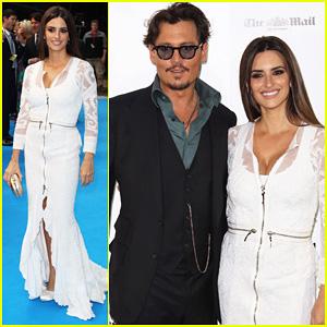 Johnny Depp: UK 'Pirates' Premiere with Penelope Cruz!