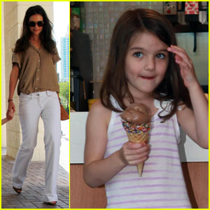 Katie Holmes & Suri Scream for Ice Cream