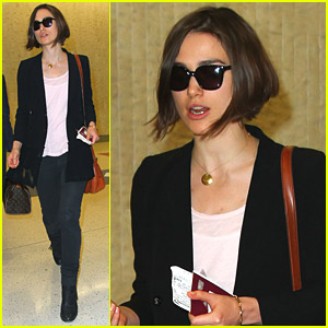 Keira Knightley Arrives In NYC