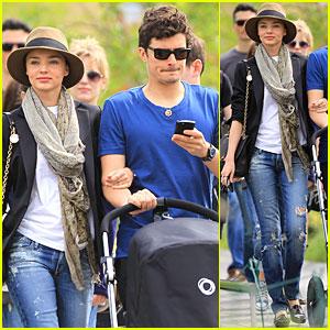 Orlando Bloom & Miranda Kerr: High Line Stroll!
