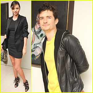 Miranda Kerr & Orlando Bloom: Helly Nahmad Gallery!
