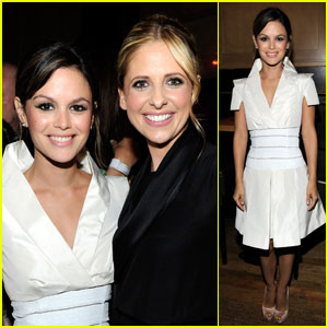 Rachel Bilson: CW Party with Sarah Michelle Gellar!