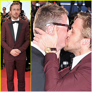 Ryan Gosling &#038; Nicolas Winding Refn: Kiss Kiss!