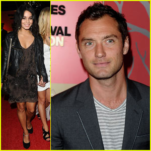 Vanessa Hudgens & Jude Law: Belvedere Red Party!