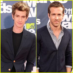 Andrew Garfield & Ryan Reynolds - MTV Movie Awards 2011