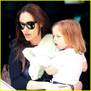 Angelina Jolie: Bowling with the Kids!