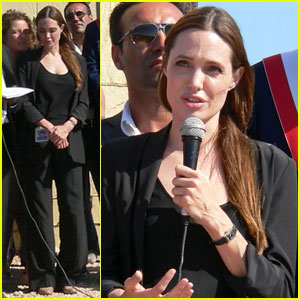 Angelina Jolie Thanks Lampedusa for Hosting Refugees