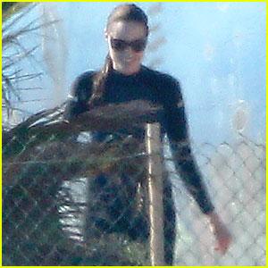 Angelina Jolie: Wetsuit at Malta Marine Park!