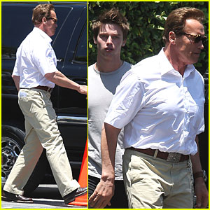 Arnold Schwarzenegger & Patrick: Father-Son Time