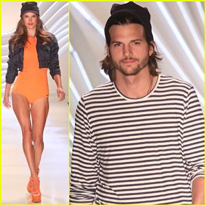 Ashton Kutcher & Alessandra Ambrosio: Colcci Fashion Show!