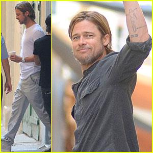 Brad Pitt: 'World War Z' Set!